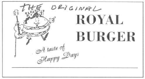 THE ORIGINAL ROYAL BURGER & DESIGN