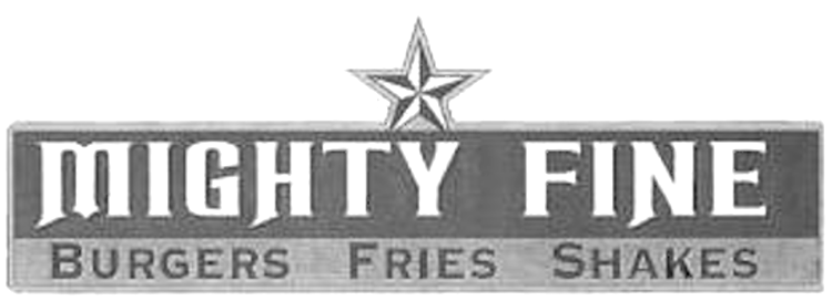 MIGHTY FINE BURGERS FRIES SHAKES & Design