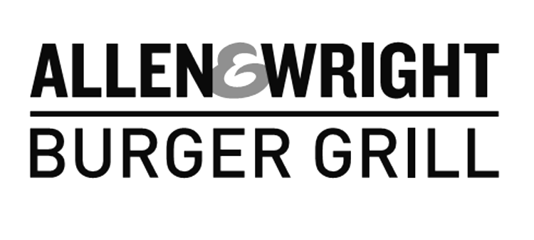 ALLEN & WRIGHT BURGER GRILL & Design
