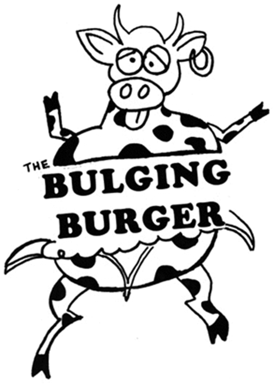 THE BULGING BURGER & Design
