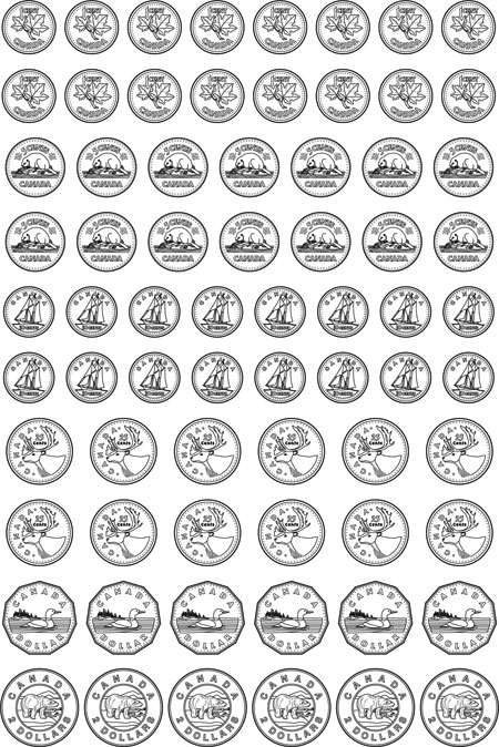 free coin coloring pages - photo#27