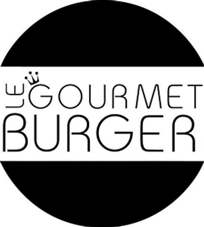 two half circles encircling the name Le Gourmet Burger forming a burger