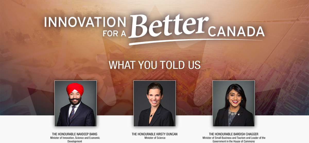 Innovation for a better Canada: What you told us