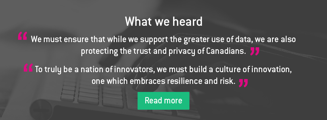 Canada's Digital Charter: Trust in a digital world - Innovation for a Better Canada