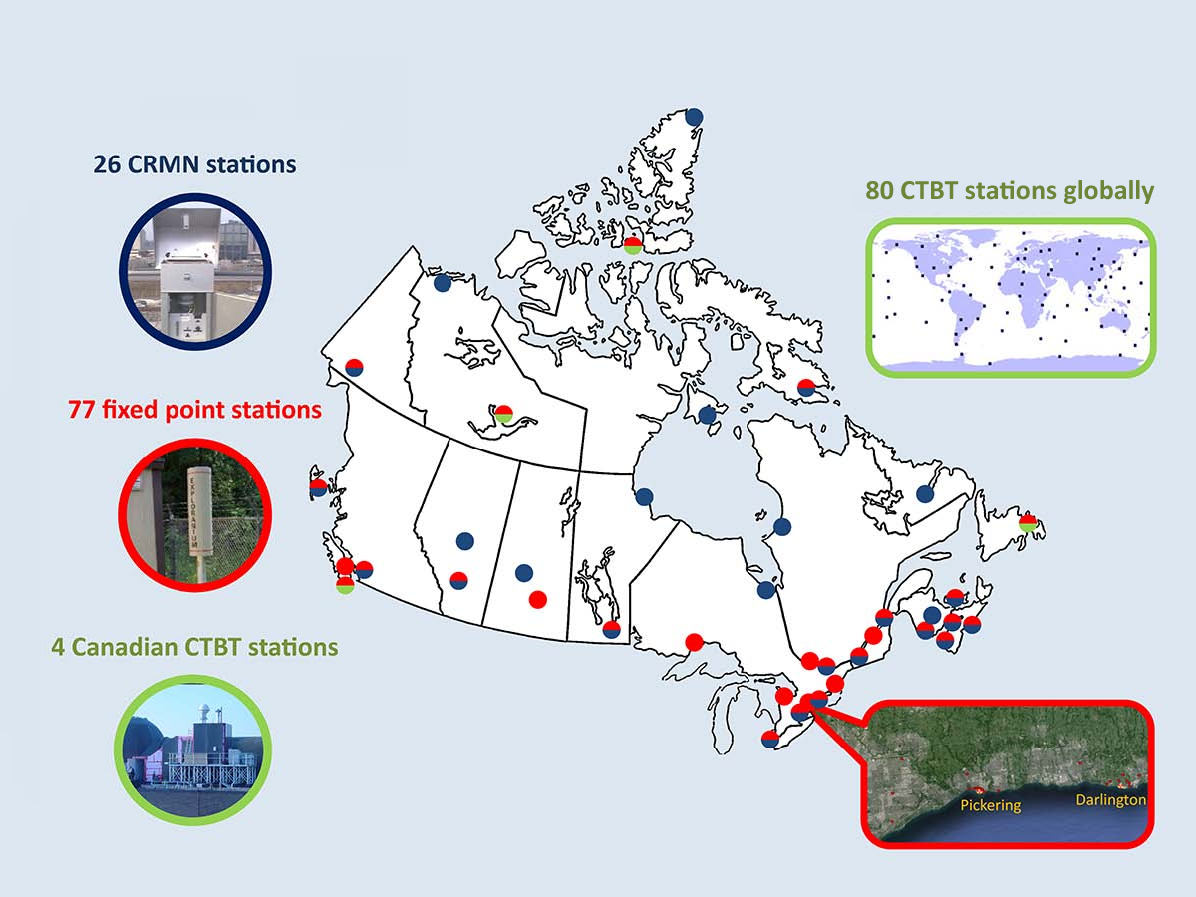 Radiation Map Canada Keeping a close eye on radiation   Science.gc.ca