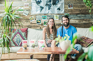 The founders of PRANA, Alon Farber and Marie-Josée Richer.