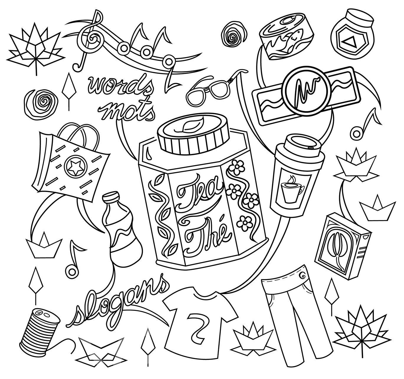 A book of canadian innovation canadian intellectual property office colouring page featuring sample items that could be trademarked and a description of trademarks biocorpaavc Images