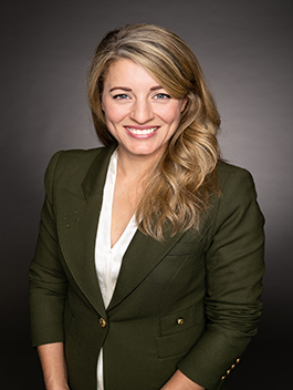 The Honourable Mélanie Joly, Minister of Economic Development and Official Languages
