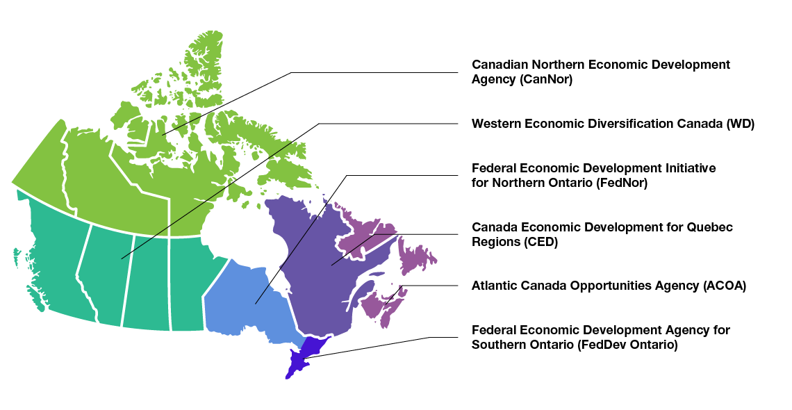 Regional Map Of Canada.Canadian Experiences Fund Tourism In Canada