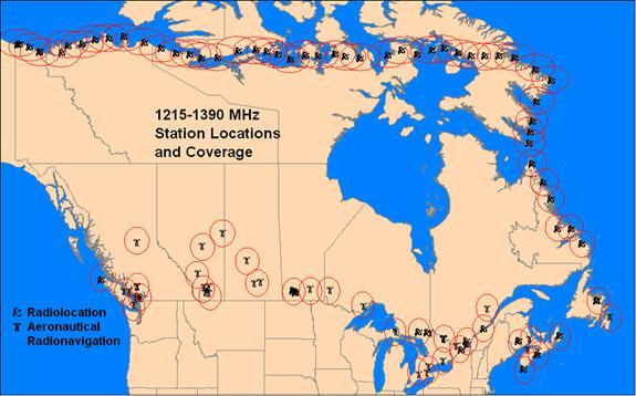 Norad Weather Map.Radio Spectrum Inventory A 2010 Snapshot Canada Spectrum