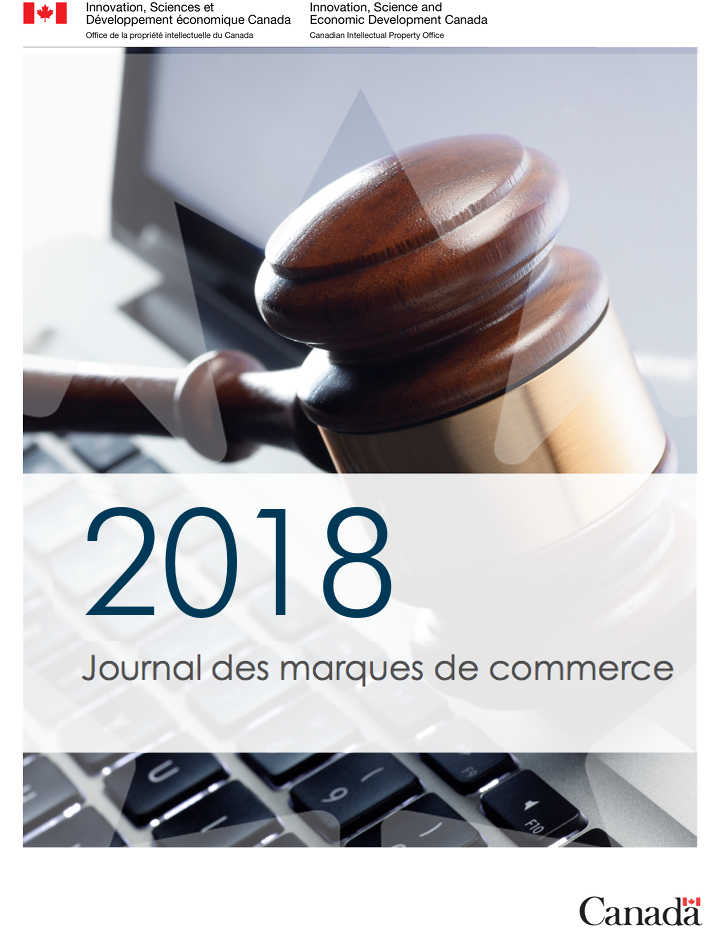 0fb6ab10826 Journal des marques de commerce Vol. 65 No. 3344